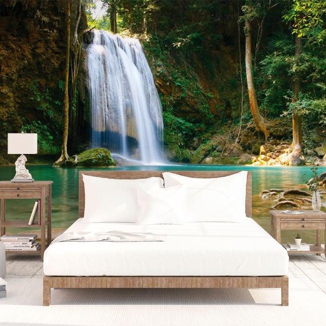 Fotomurales de vinilos cascadas de tailandia for Fotomurales de vinilo