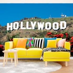 Fotomurales de vinilos cartel Hollywood