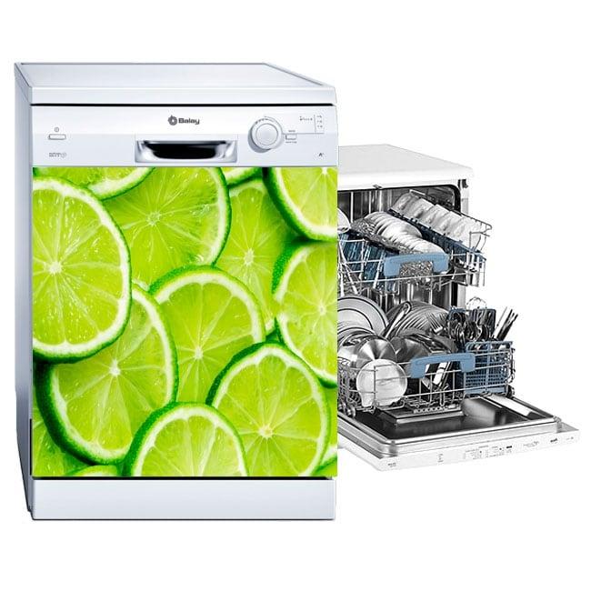 Vinilos lavavajillas limones