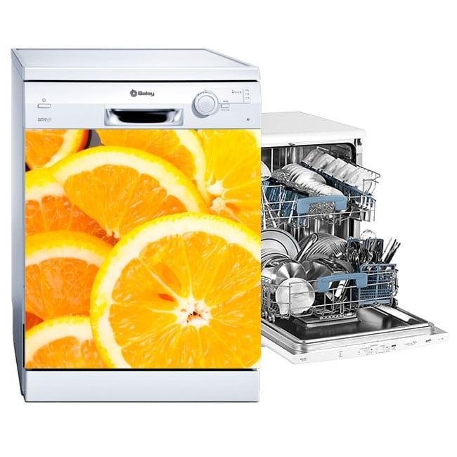 Vinilos lavavajillas naranjas