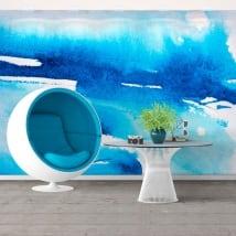 Fotomurales de vinilos pintura azul
