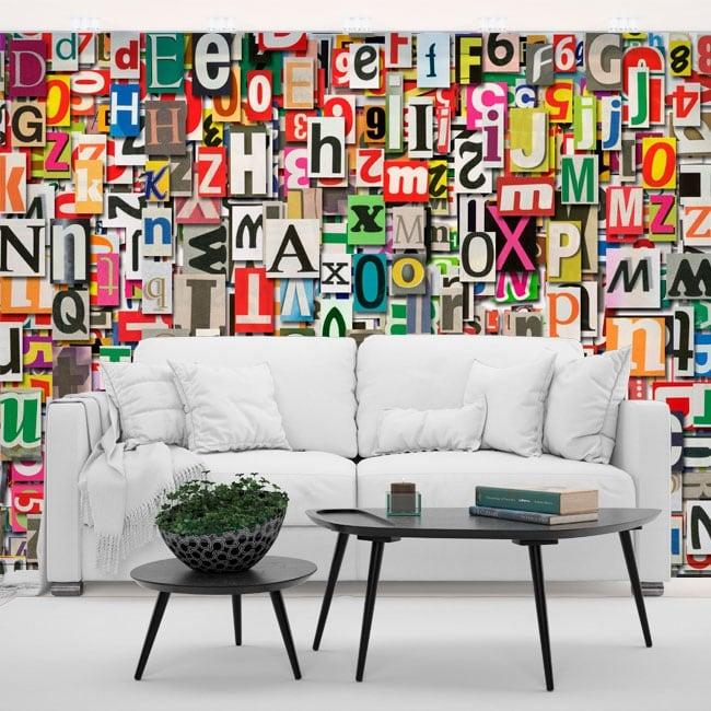 Fotomurales de vinilos letras collage for Fotomurales de vinilo