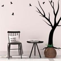 Vinilos decorativos árbol y aves