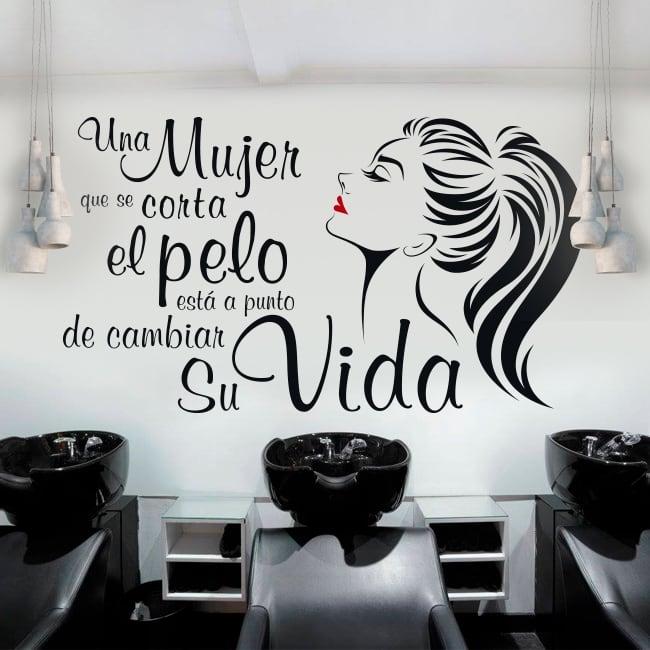 Vinilos peluquerías frase coco chanel