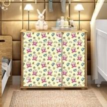 Vinilos y pegatinas decorar muebles de bebé