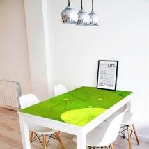 Vinilos decorativos mesas nenúfares