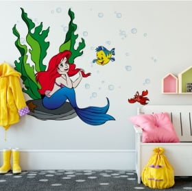 Vinilos decorativos paredes la sirenita