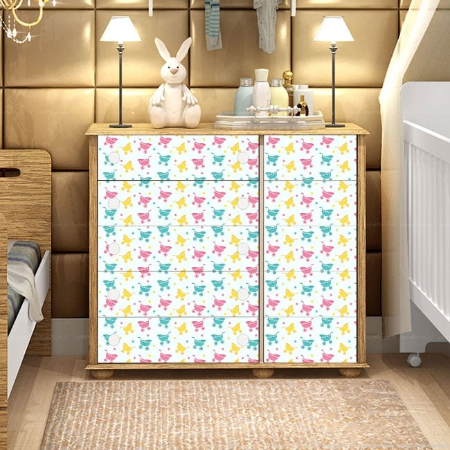 Vinilos decorativos para muebles de bebé