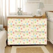 Vinilos para muebles habitaciones bebé