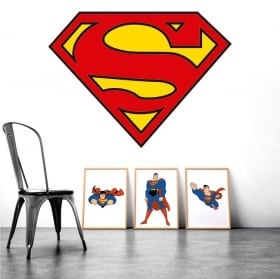 Vinilos decorativos superman logo