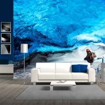 Fotomurales de vinilos glaciar skaftafell