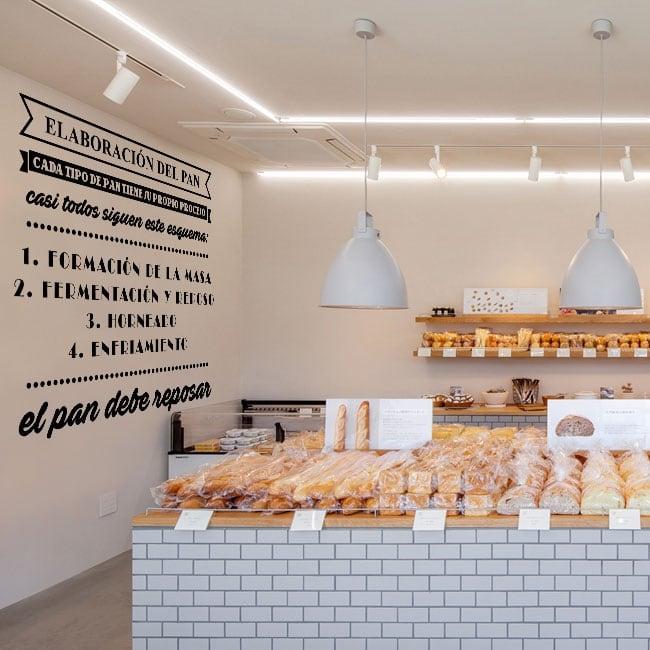 Vinilos decorativos elaboración del pan