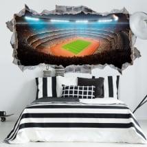 Vinilos decorativos estadio fútbol y atletismo 3d
