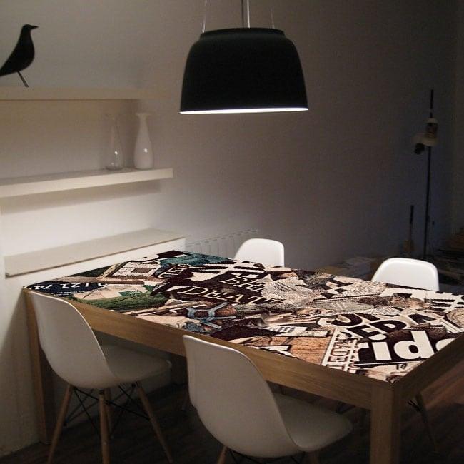 Vinilos para mesas collage grunge