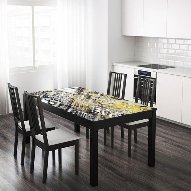 Vinilos para mesas y muebles collage