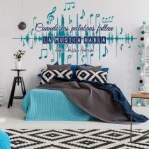 Vinilos decorativos paredes frases música