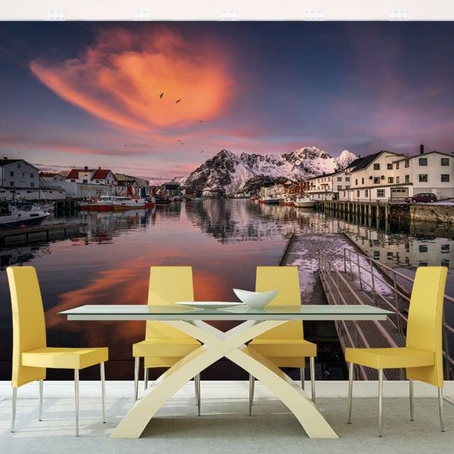 Fotomurales paredes islas lofoten noruega