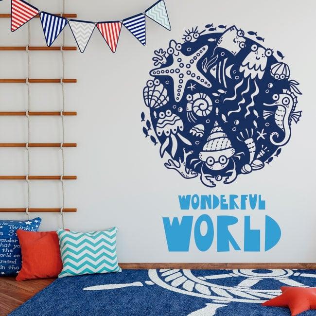Vinilos infantiles wonderful world