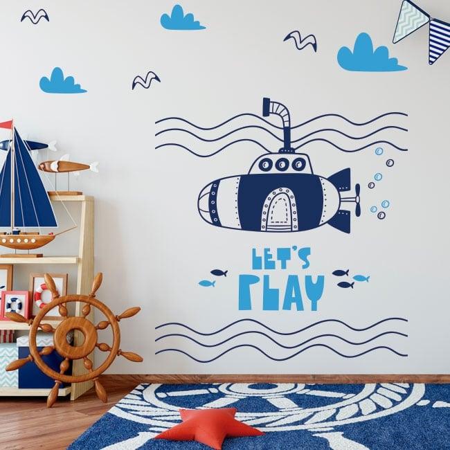 Vinilos infantiles submarino let's play