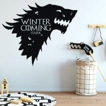 Vinilo paredes juego de tronos winter is coming stark