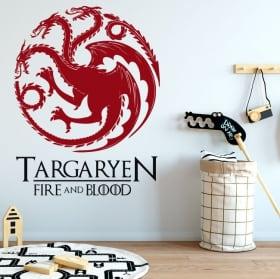 Vinilos decorativos juego de tronos fire and blood