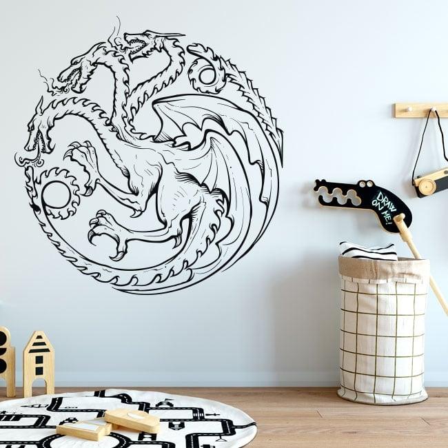 Vinilos y pegatinas juego de tronos dragón