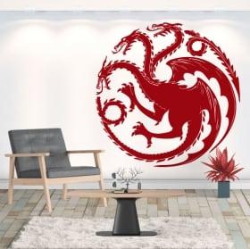 Vinilos decorativos dragón juego de tronos