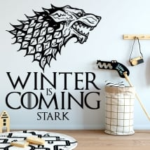 Vinilo decorativos juego de tronos winter is coming stark