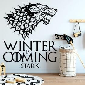 Vinilo decorativos juego de tronos winter is coming stark