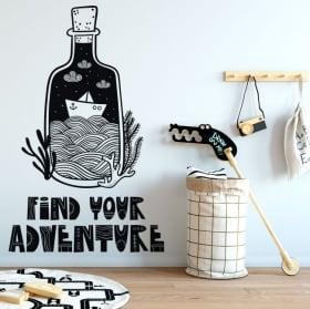 Vinilo decorativos frase find your adventure