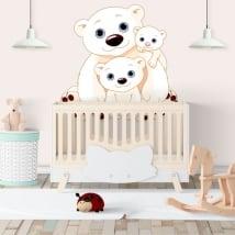 Vinilos paredes familia ositos infantiles