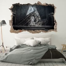 Vinilo decorativos paredes juego de tronos 3d