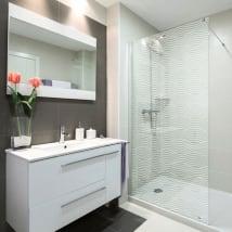 Vinilos mamparas ondulaciones para baños