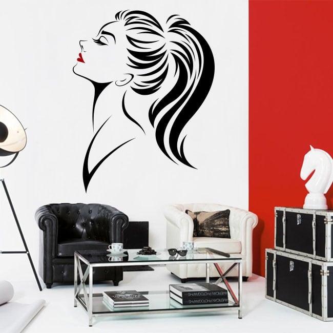 Vinilos paredes y cristales silueta mujer - Cristales para paredes ...