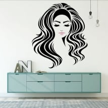 Vinilos paredes silueta femenina