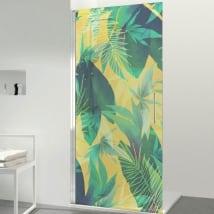 Vinilos para mamparas baños color tropical