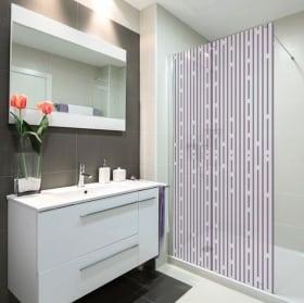 Vinilos mamparas líneas de baños