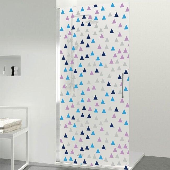 Vinilos para mamparas triángulos de colores