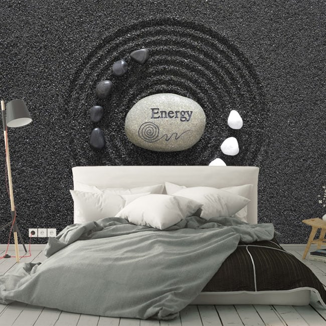 Fotomurales vinilos piedras zen energy