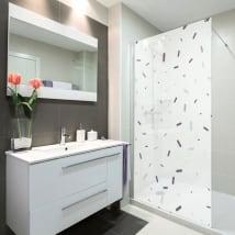 Vinilos mamparas baños estilo memphis