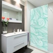 Vinilos mamparas baños olas del mar