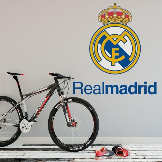 Vinilos fútbol real madrid escudo