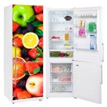 Vinilos neveras y frigoríficos collage de frutas