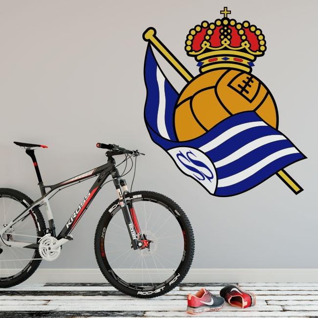 Vinilos fútbol real sociedad escudo
