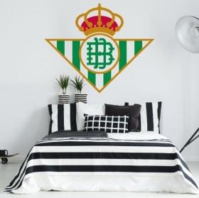 Vinilos fútbol real betis balompié escudo