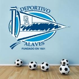 Vinilos fútbol escudo deportivo alavés