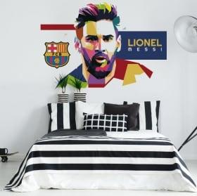Vinilos lionel messi barcelona fútbol