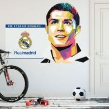 Vinilos cristiano ronaldo real madrid fútbol