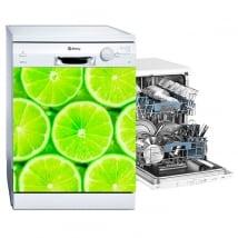 Vinilos decorativos lavavajillas limones