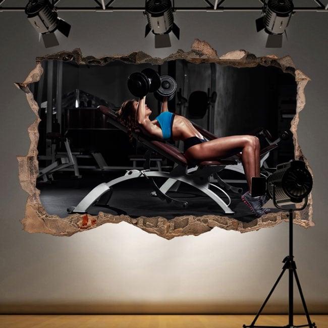 Vinilos decorativos gimnasio fitness 3d